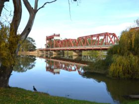 Breathtaking views of the heritage listed Paringa Bridge