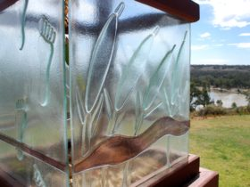 'Once Upon a River' Glass Sculpture by Clint & Liz Frankel