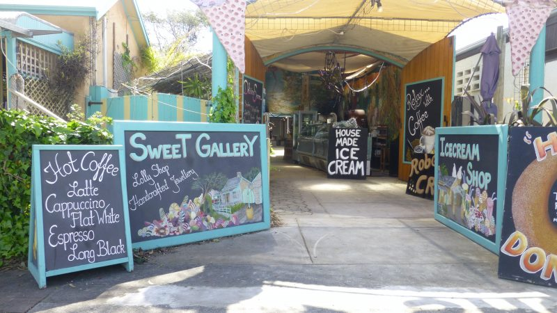 Robe Ice Cream shop entrance - Premium Gelato with 42 flavours