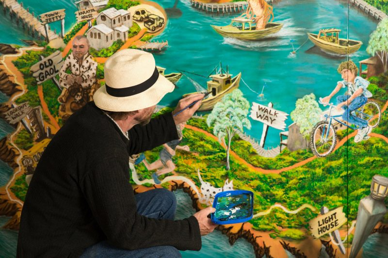 Neil Welsh Artist, Robe Art Map, Robe Ice Cream