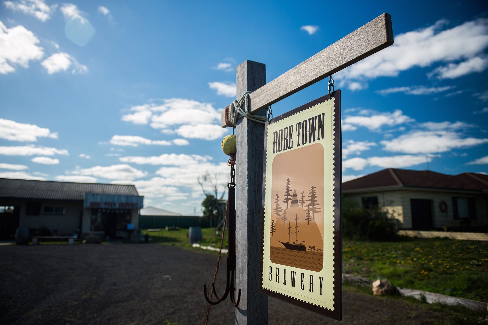 Robe Town Brewery sign