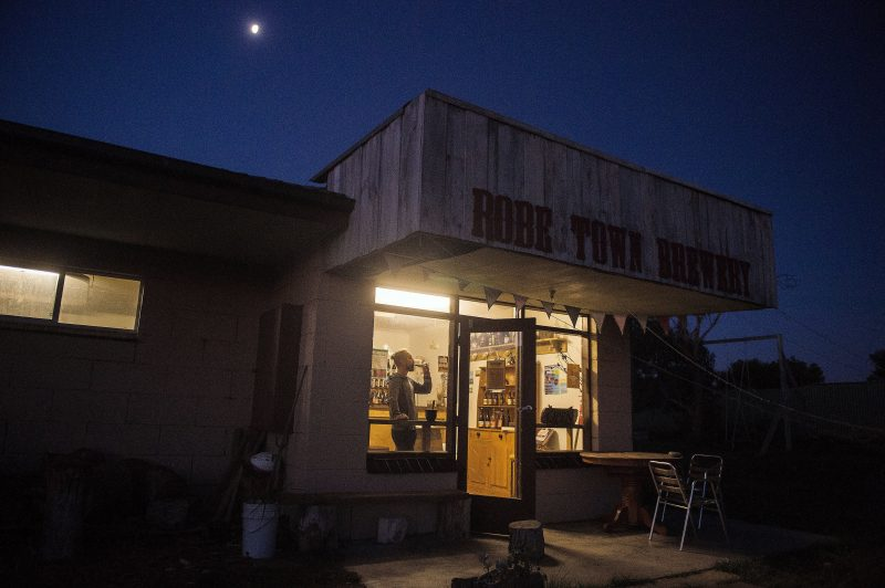 Robe Town Brewery at night