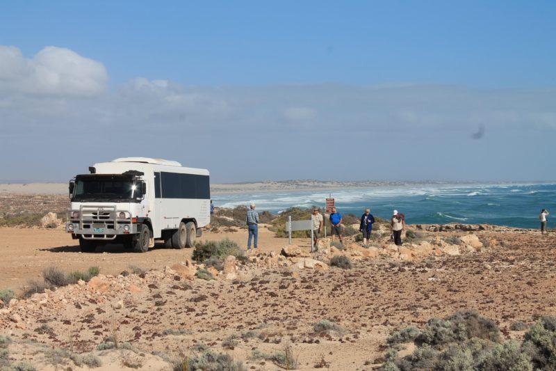 6WD coach with coastal views