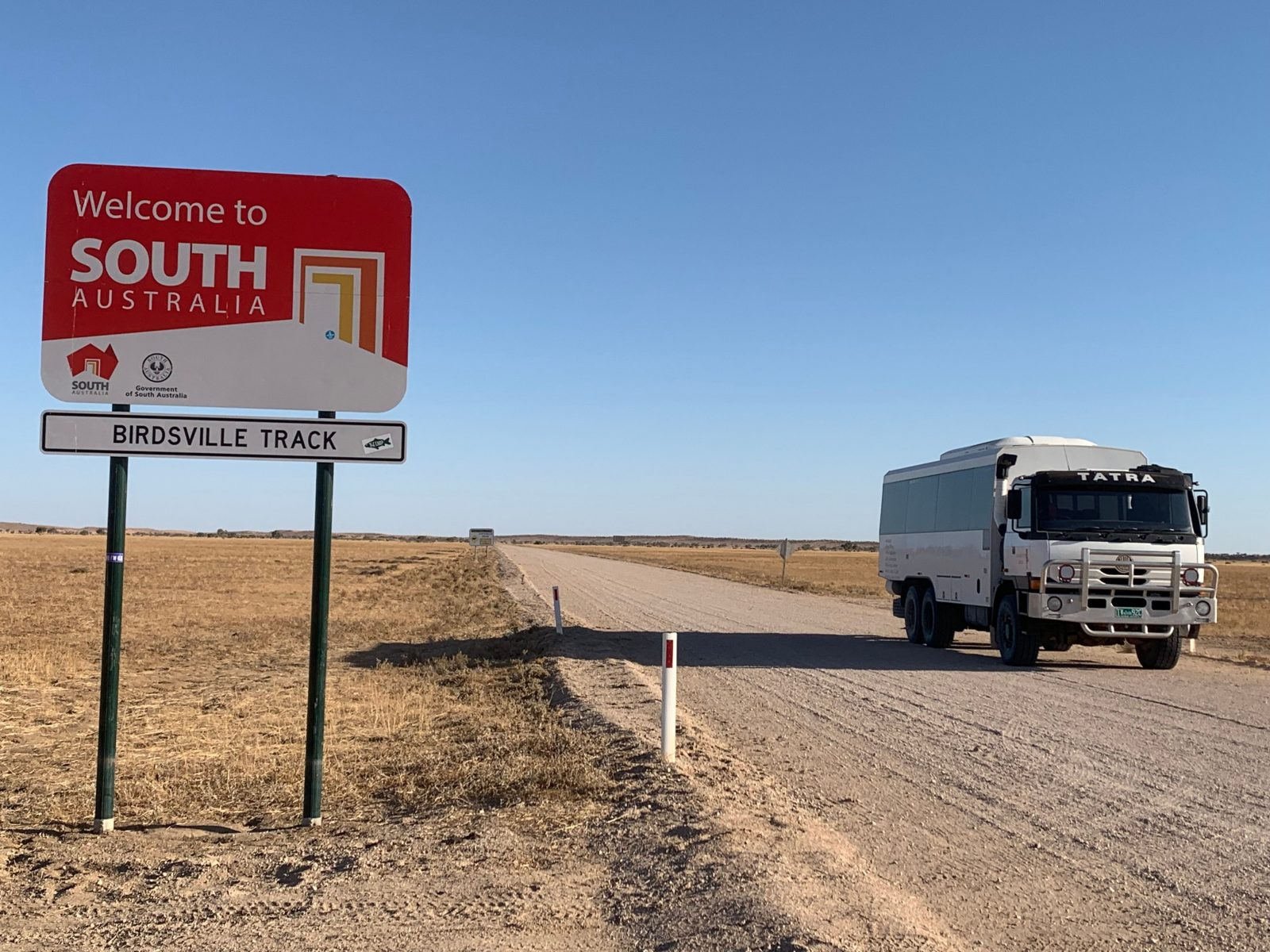 6WD coach driving on the dirt Birdsville Track