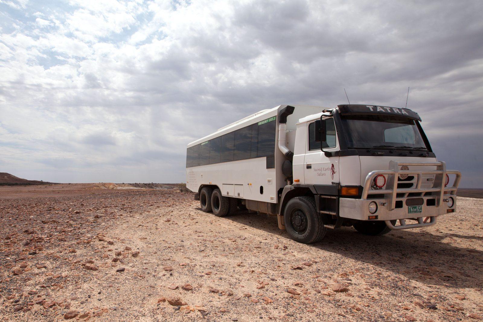 large four wheel drive touring coach