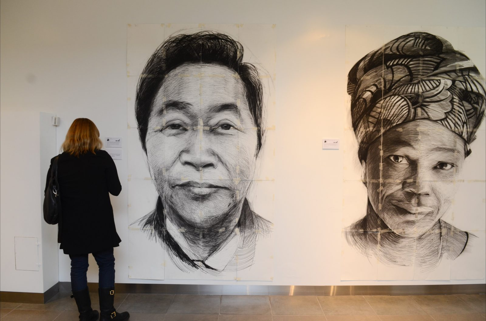 The work of South Australian Artist Daniel Connell. Big scale portraits.