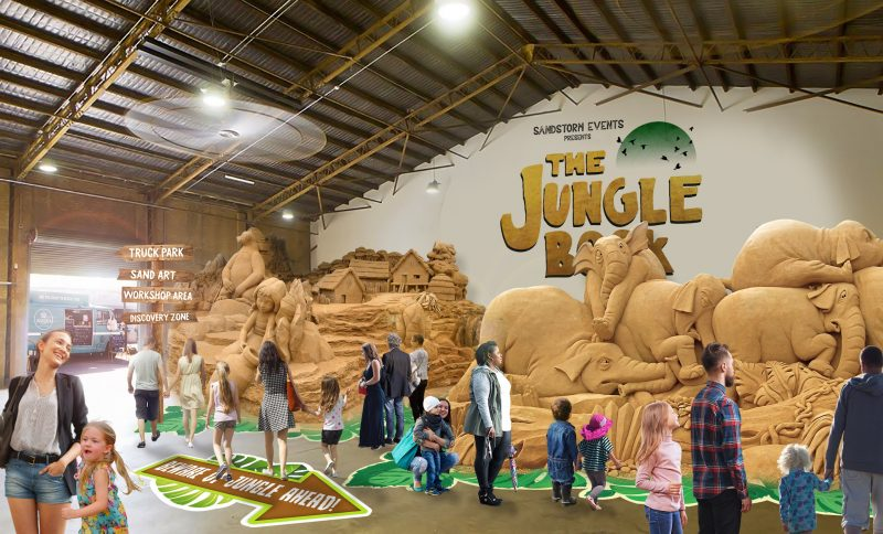 The Jungle Book Sand Sculpting Exhibition