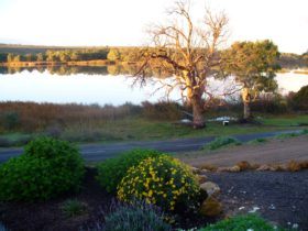 Spectacular views over the lagoon and out to the Murray River.