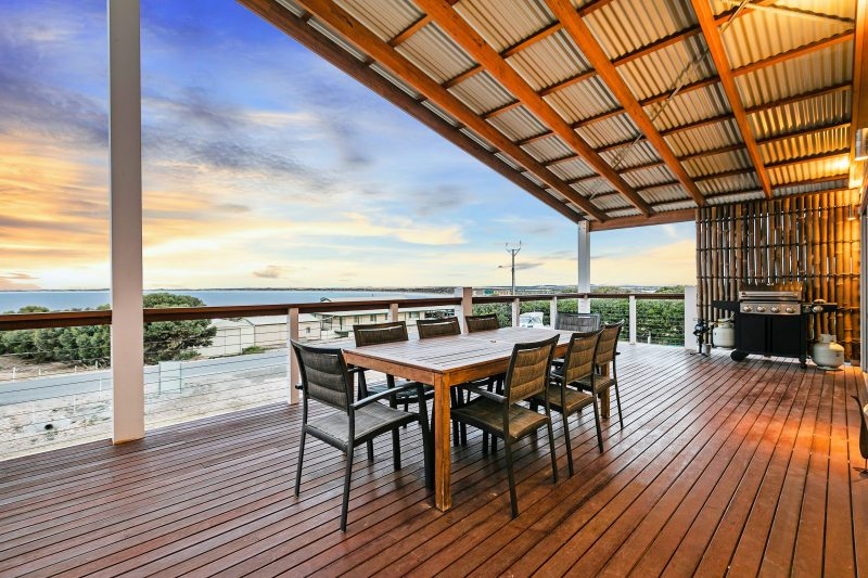 Large deck for entertaining and enjoying the Seaviews