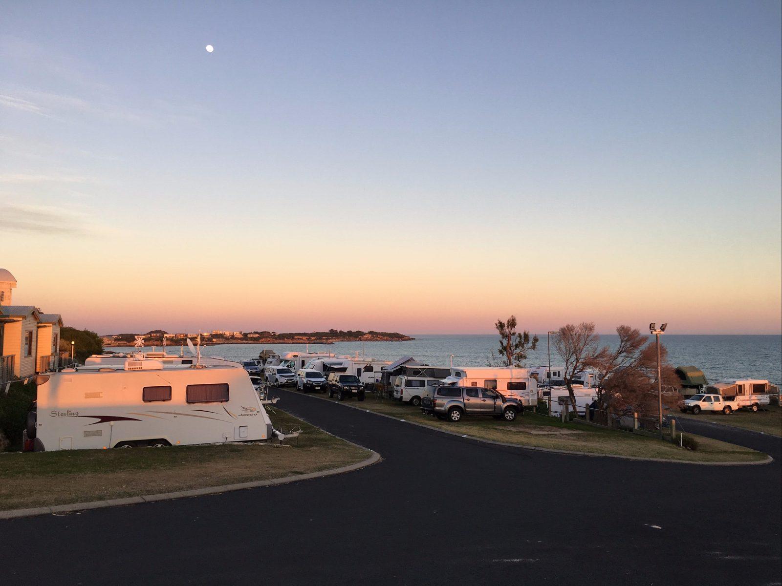 Sea Vu Caravan Park, Robe at Sunrise