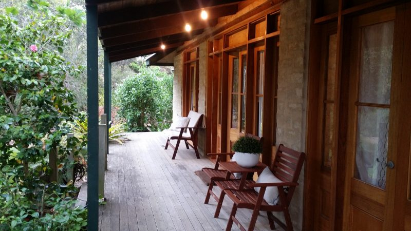 The verandah is perfect for afternoon drinks and bird-watching