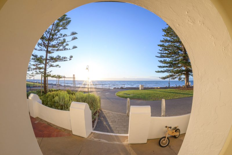 View of Glenelg Beach from front of apartment