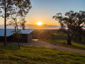 Sunset View from the deck McLaren Vale vineyard ocean