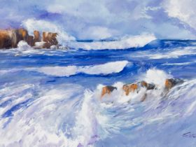 Seascape painting of Hanson Bay, Kangaroo Island