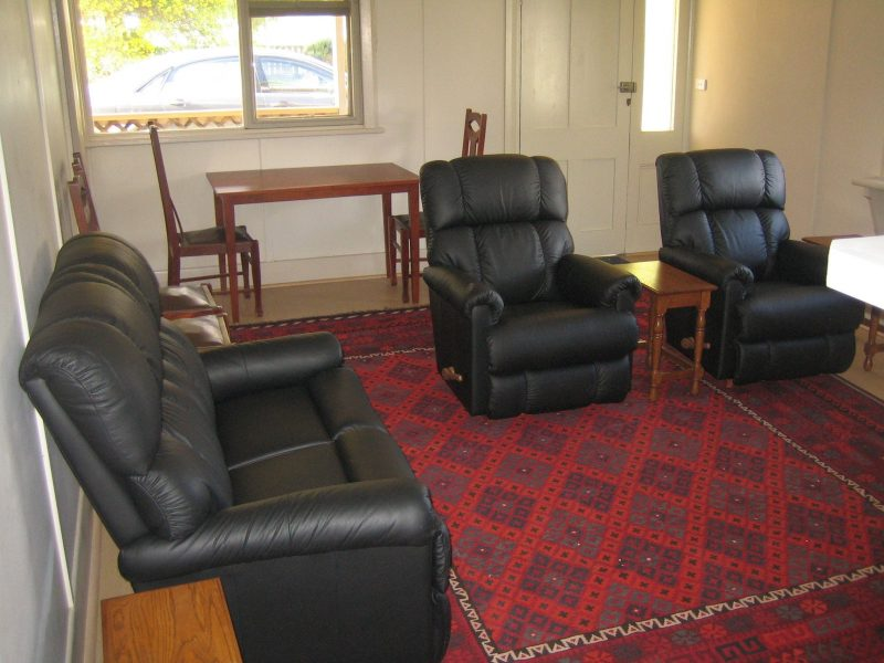 Living room with AC and combustion heater