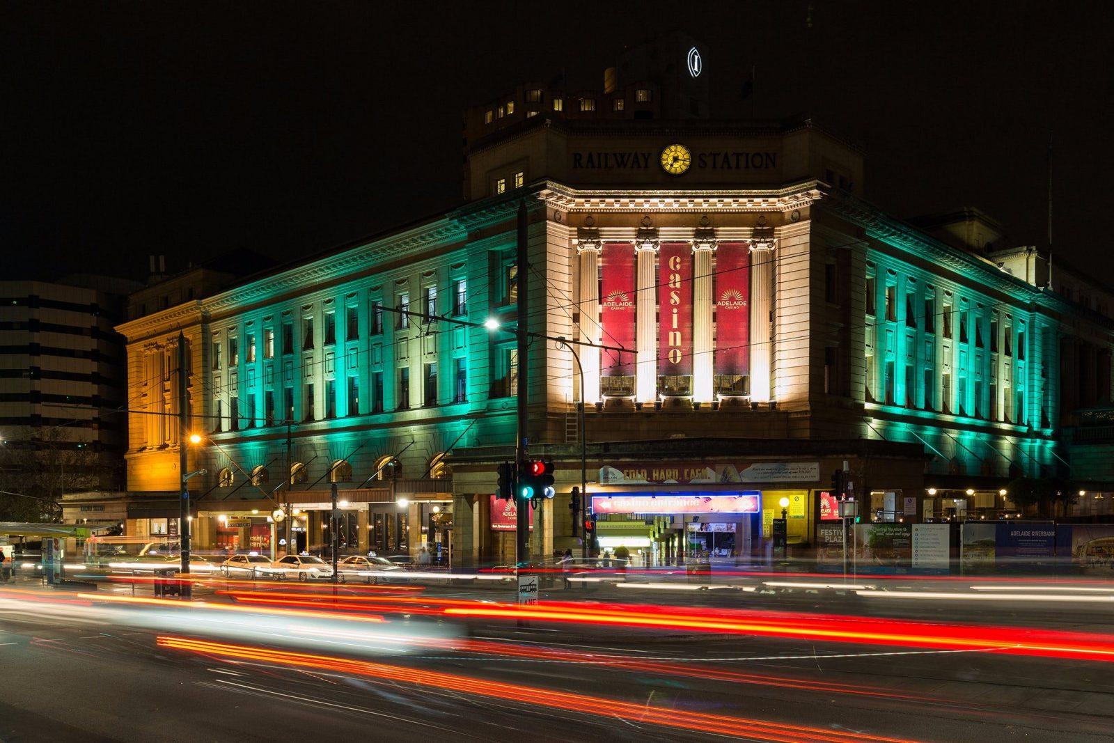Adelaide Casino - At Night