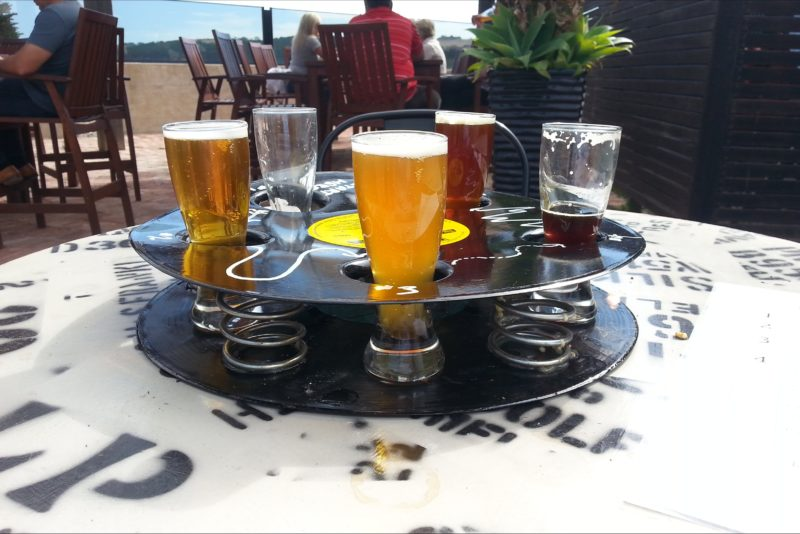 Smiling Samoyed Beer Flight