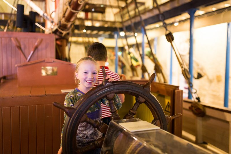 Children at the Maritime Museum