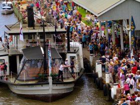Festival flagship PS Oscar W at Goolwa Wharf