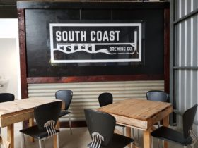 photo of inside area at South Coast Brewing Comapny