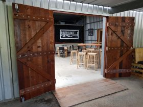 Photo looking into South Coast Brewing Comapny's indoor area
