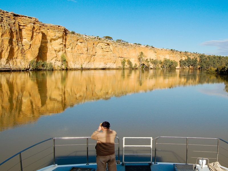 Blanchetown cliffs on Spirit of the Murray
