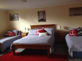 "Sleeps 4 with 50""TV & dvd"