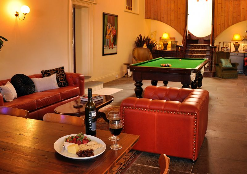 Many exciting pool and billiard games played, also complete with huge dining table seating 10 people