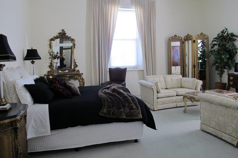 Very romantic with beautiful furnishings