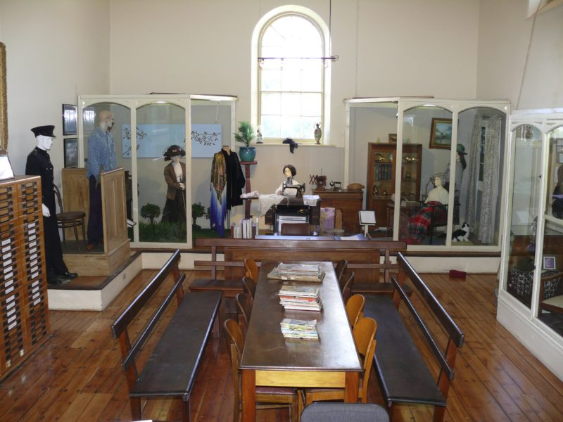 Display showing women in Strathalbyn through the years