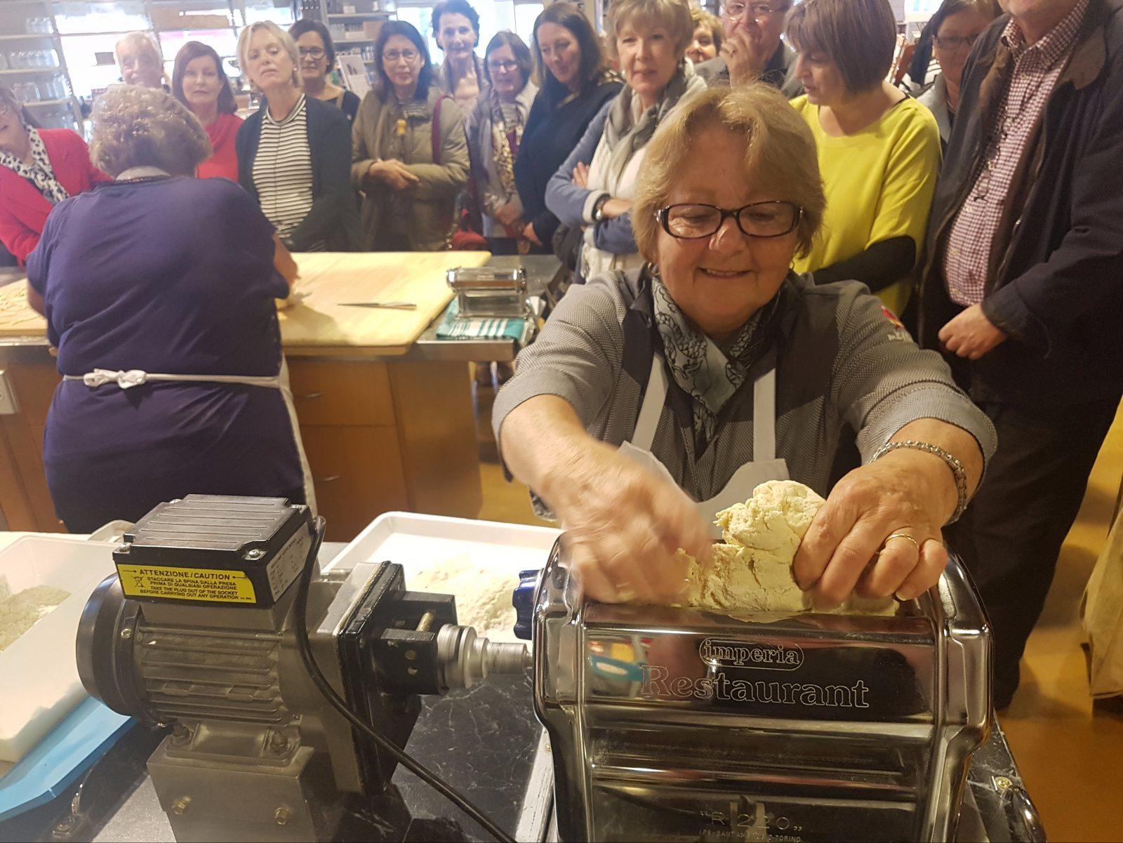 Pasta making at Mercato