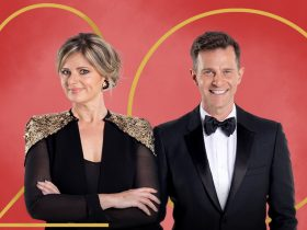 Image of Julia Zemiro and David Campbell in formal attire