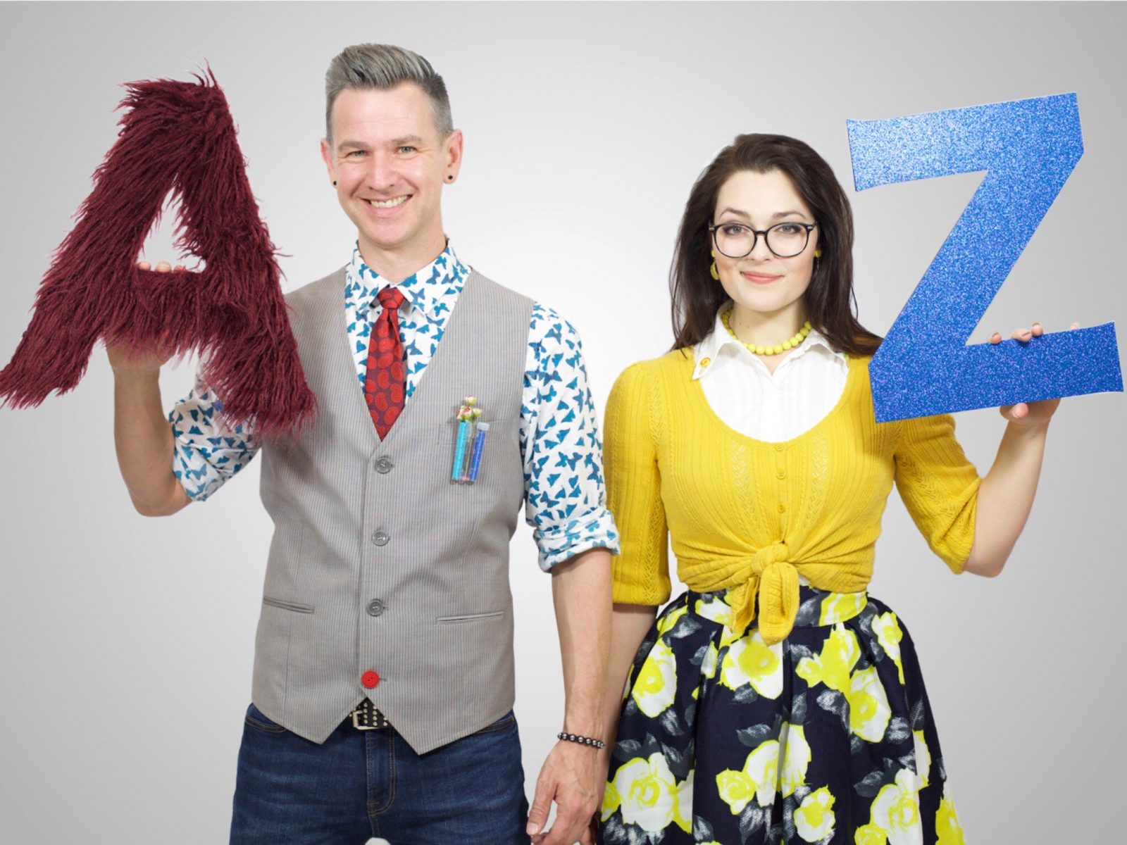 Professors Noel Edge and Lexi Con in The Alphabet of Awesome Science