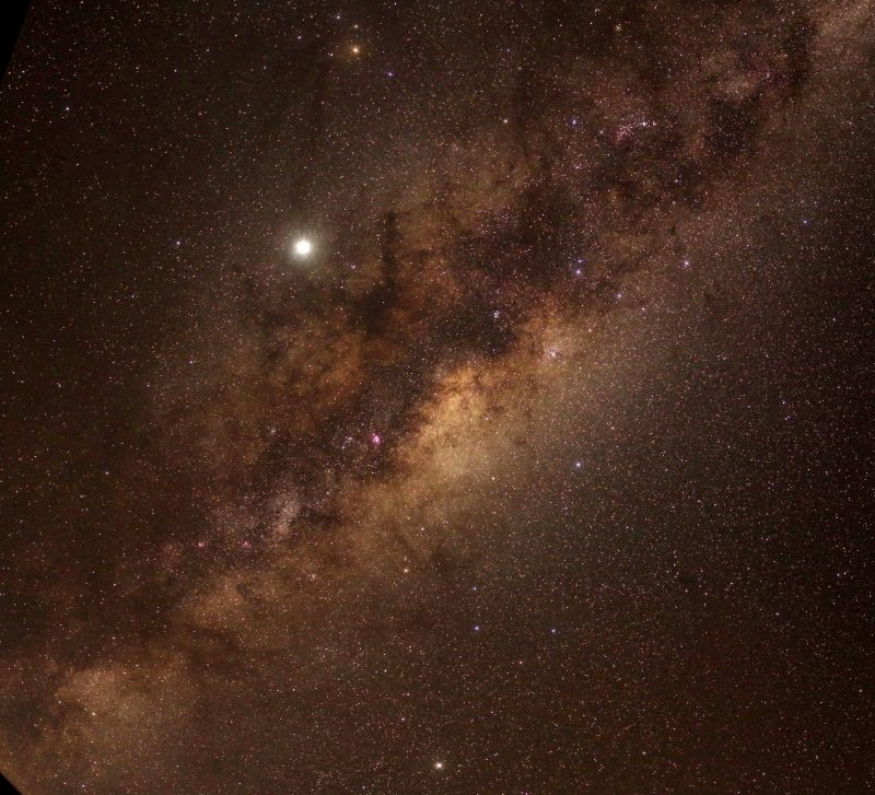 The centre of the Milky Way passing over Wirrina Cove, winter 2019