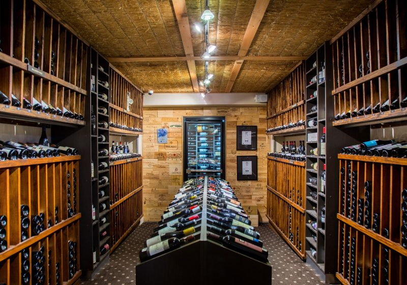 Guests select wines from the vast collection