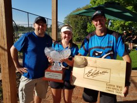 2018 Elderton Tennis Classic Champions Tessa and Martin, with Allister Ashmead