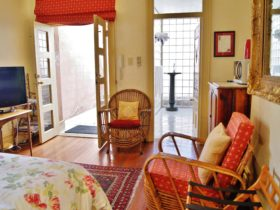 Loggia Spa Suite has private offstreet parking & courtyard