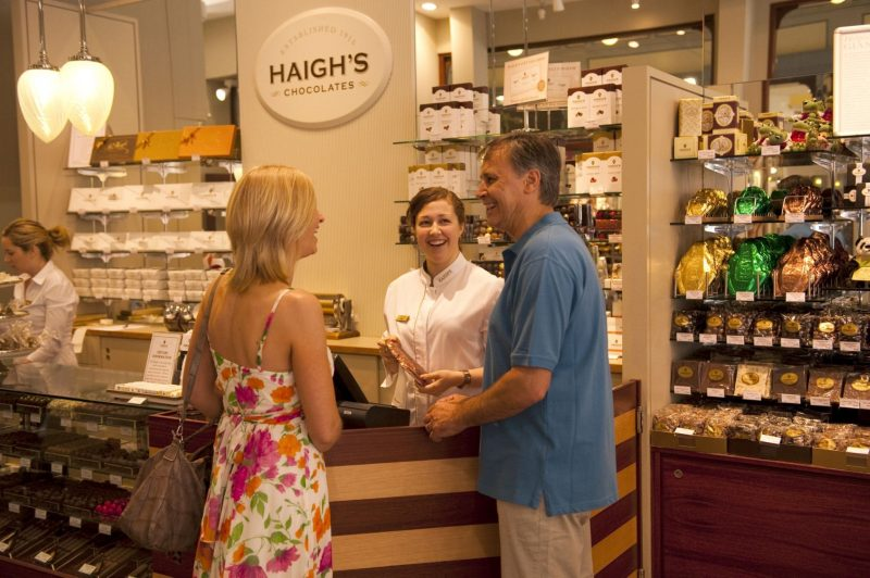 Haigh's Chocolates - they melt in your mouth!