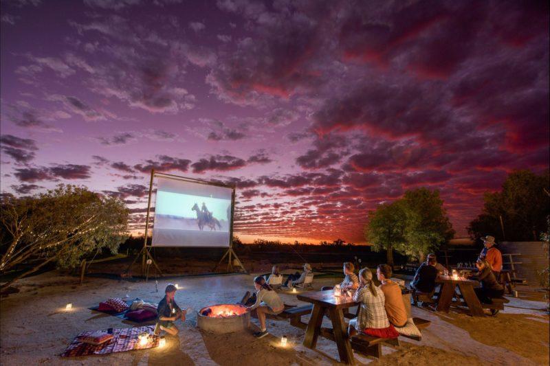 Outdoor cinema at The Innamincka Hotel