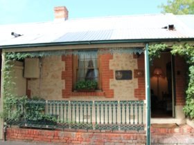 One of a line of historic row cottages