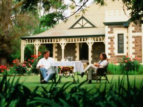 The Lodge Country House Tea on the front lawnPhoto courtesy SATC