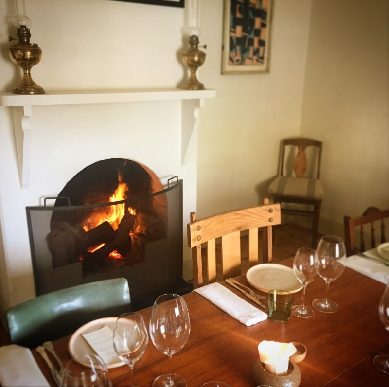 In the winter months, the Inn' stays warm and inviting with open fires in the dining rooms.