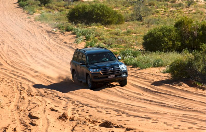 4WD attempting to climb the Big Red sand dune