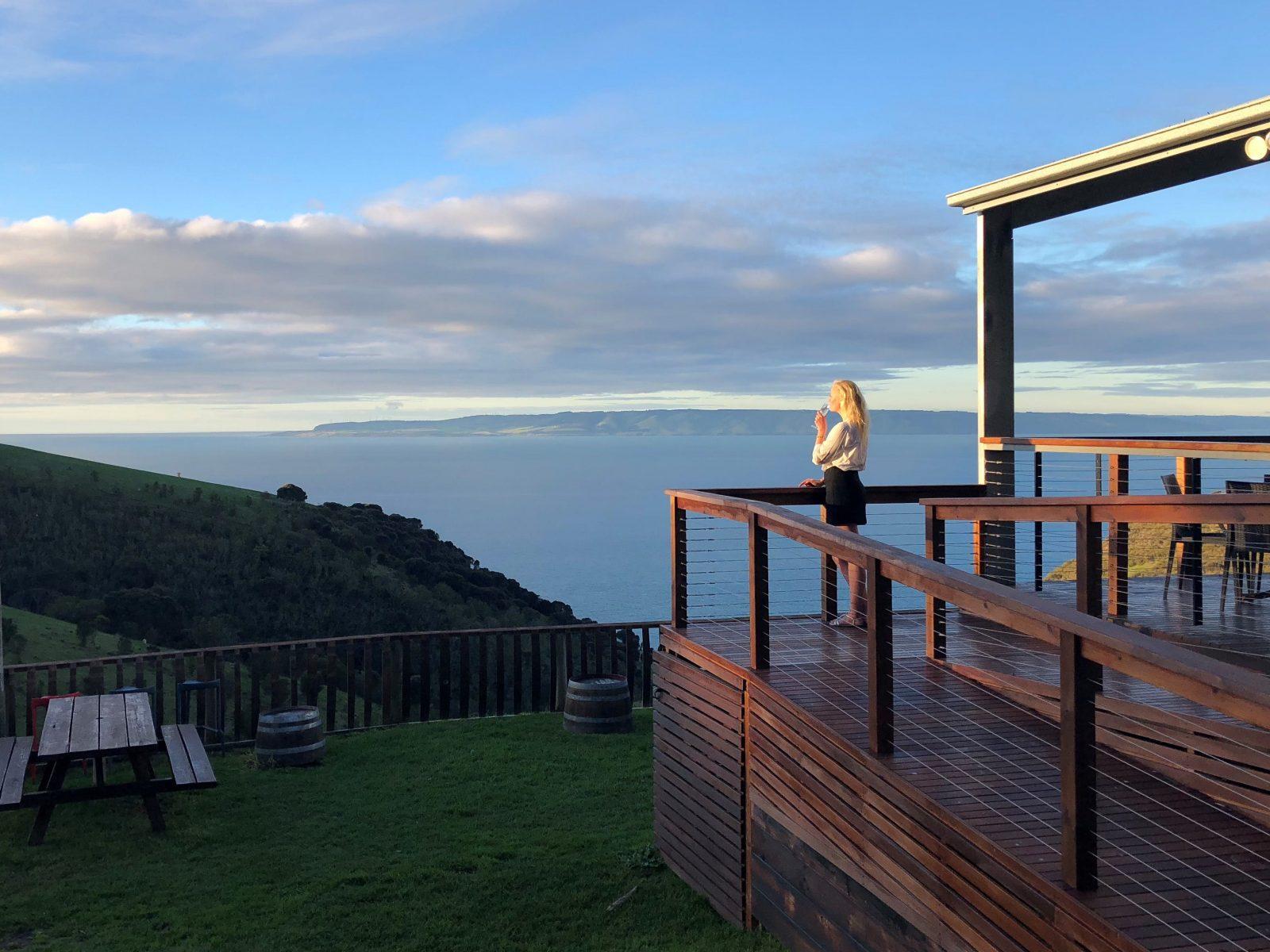 View from Dudley's Clifftop Cellar Door, Kangaroo Island
