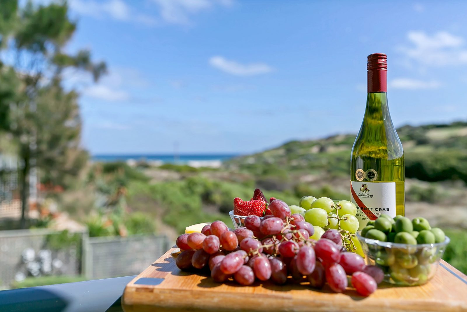 Sea View with Wine & Platter