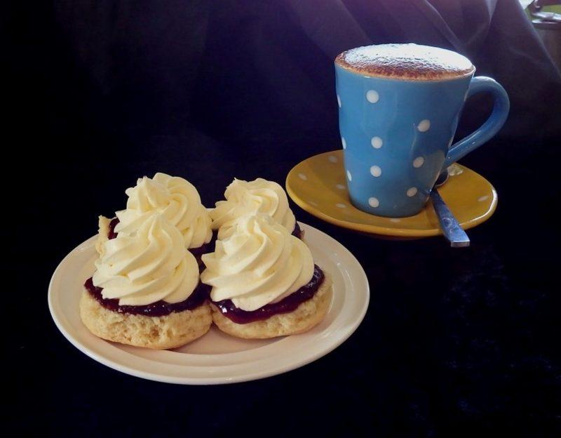 Scones with Fresh Cream and Jam