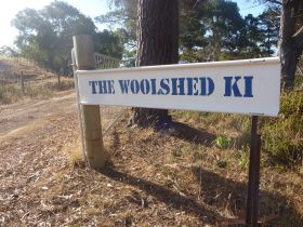 The Woolshed KI front entrance