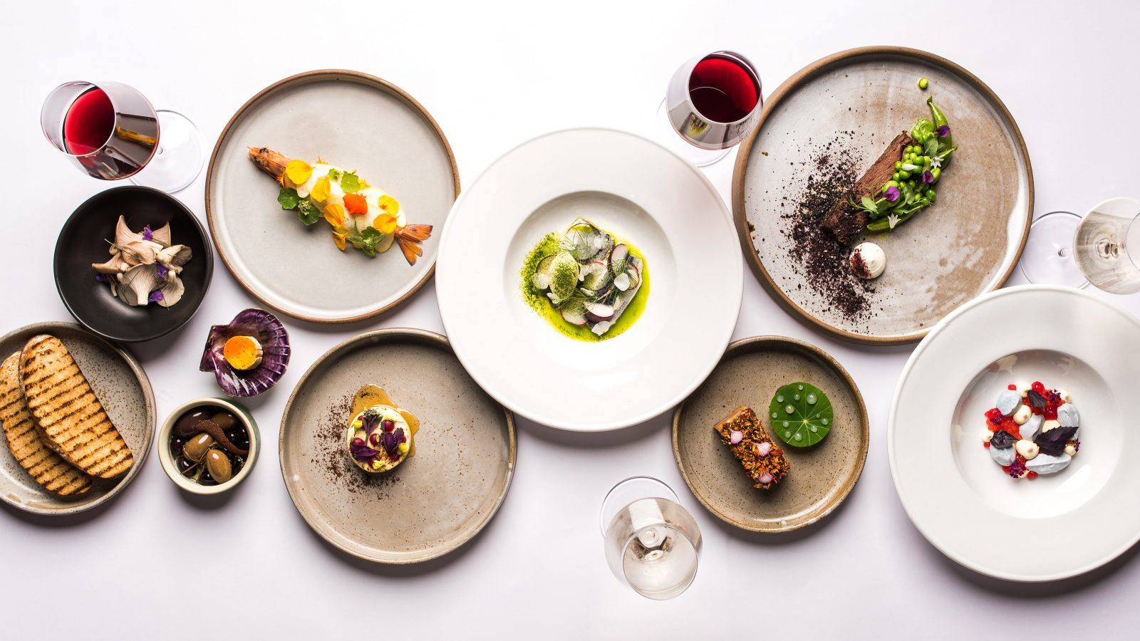 An overview of the innovative menu at the Topiary - ever changing with the season and surrounds
