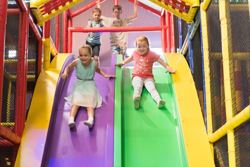 See our brand new 'Speed Slides'! Who can go the fastest? This will get their hearts racing!