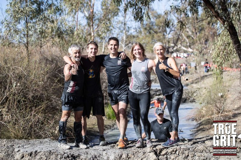 True Grit Obstacle Course Race Mud South Australia